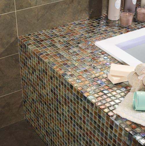 deep rich colourful glass mosaic