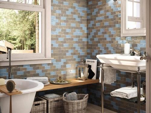 brick shaped kitchen tile mix