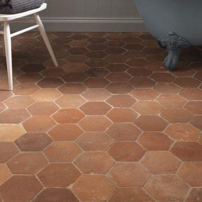 Antique Terracotta Hexagon Tiles