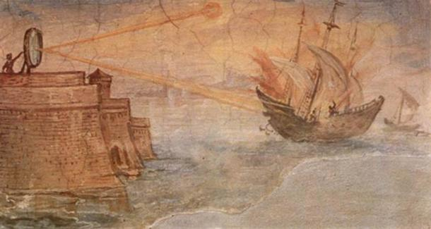 archimedes-set-on-fire-the-roman-ships