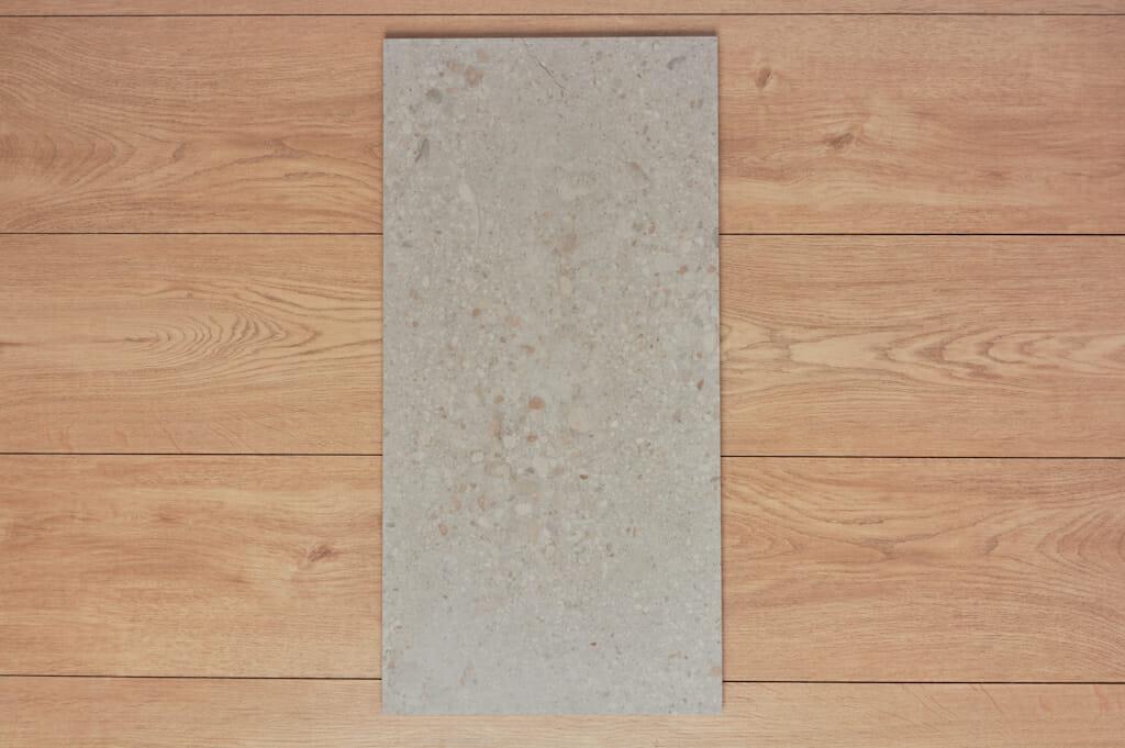 pedder light grey industrial concrete look porcelain tile 300x600mm
