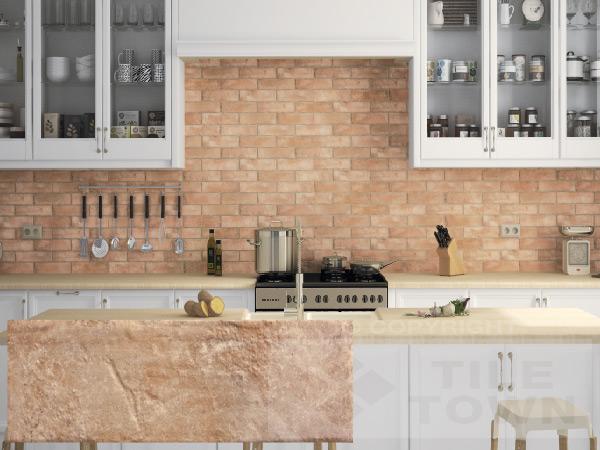 exposed brick looking tiles bang on trend