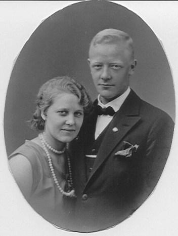 Erna og Nordahls forlovelsesbilde 1929