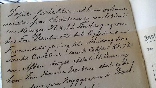 Fra dagboknotatene 19. juni 1895