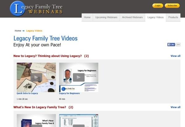 Legacys video-side