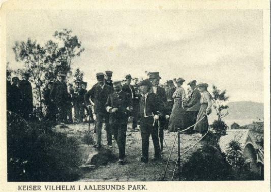 Keiser Wilhelm II i Ålesund park