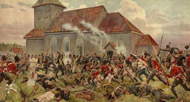 Sjuårskrigen 1807-1814 i Indre Østfold . Slaget ved Prestebakke