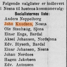 Min oldefar i Kommunevalg 1919