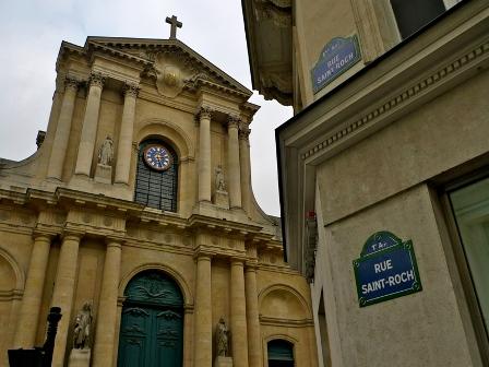 Ru Saint Roch i paris hvor mange av bygningene er 1600-1700 tallet