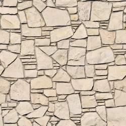 Irregula warm soft stone wall