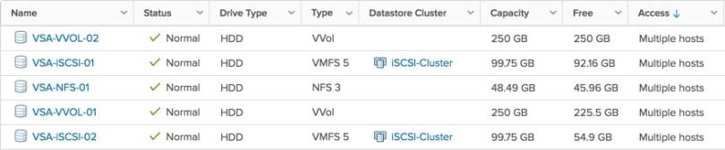 VSA Datastores