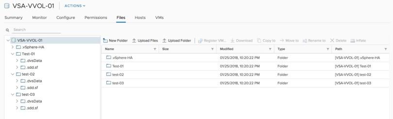 VVols File Browse