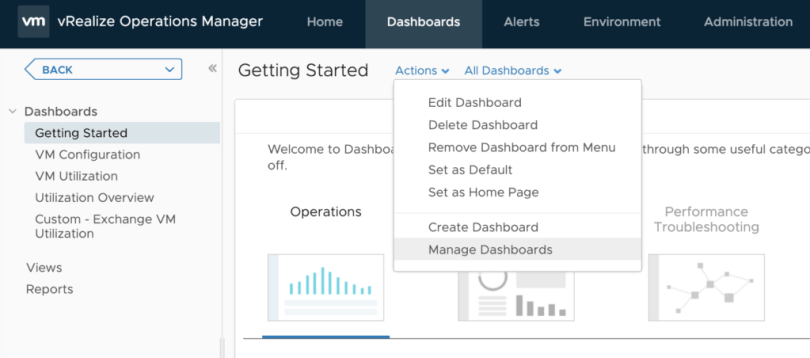 Manage Dashboards