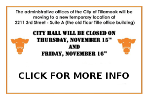 City Hall Move City of Tillamook