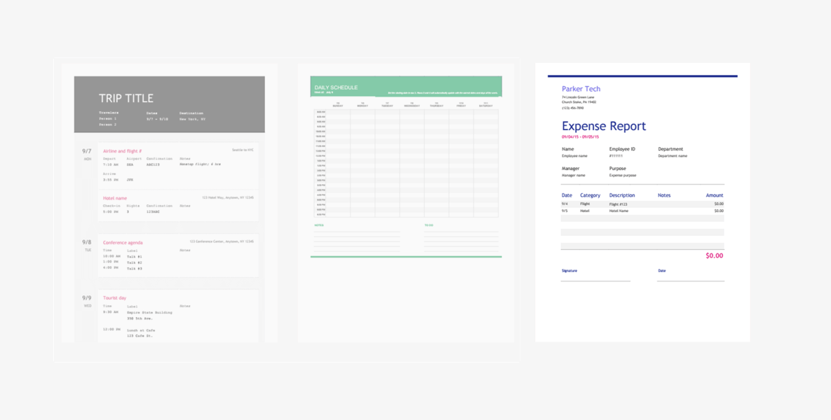 The Fastest Way to Make an Expense Report Spreadsheet