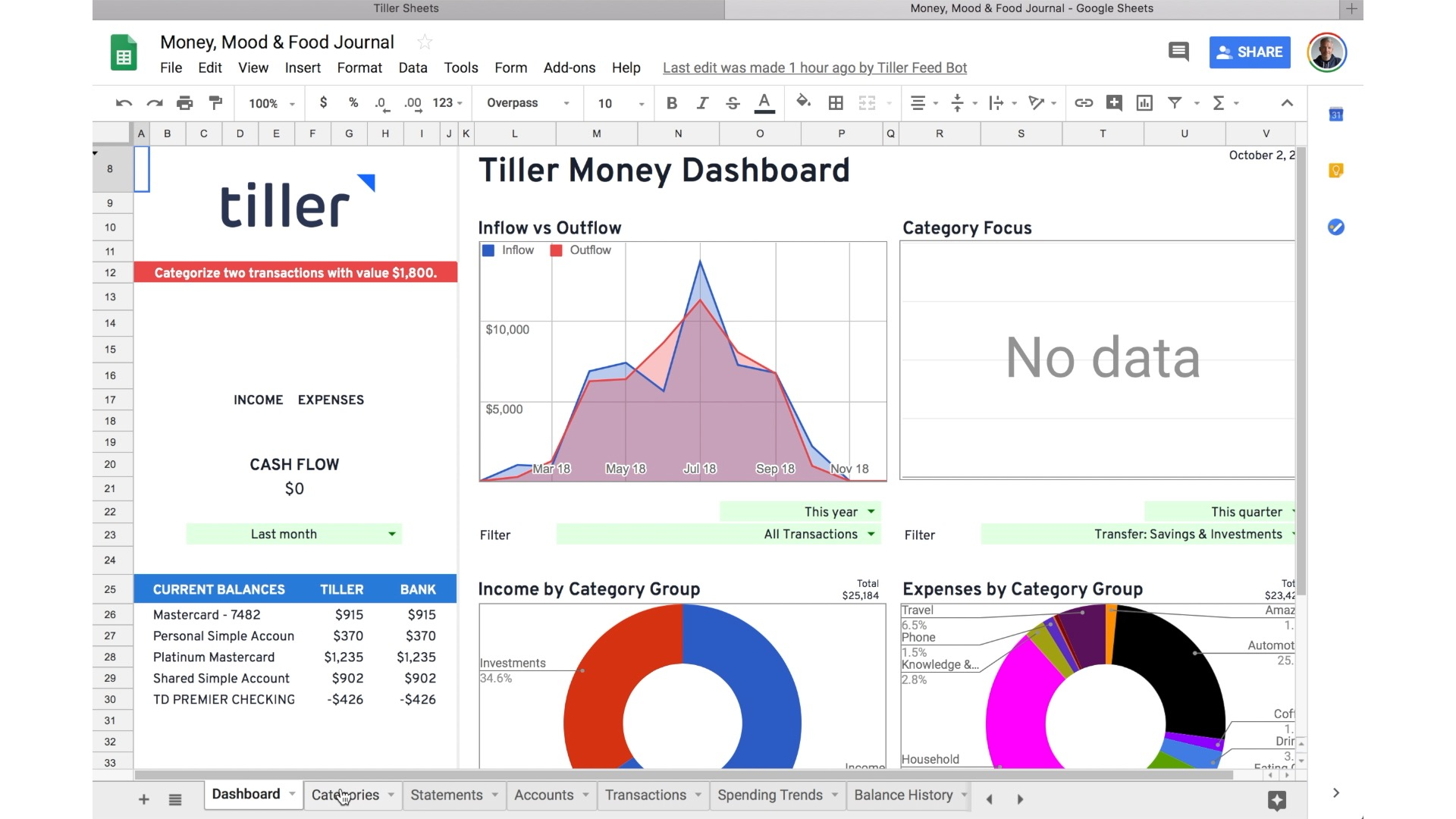 How To Create An Expense Report In Three Minutes With Tiller And Google Sheets