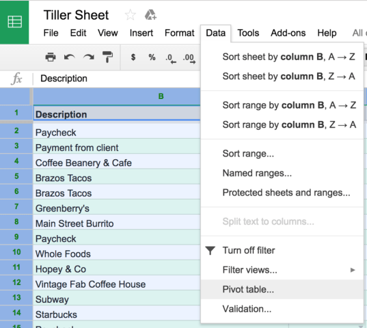3 Steps for Tracking Spending With Spreadsheet Subcategories