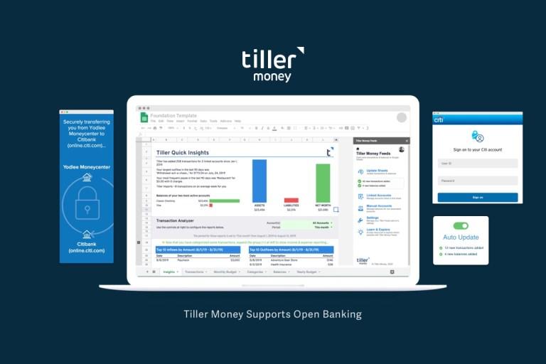 Tiller Money Supports Open Banking