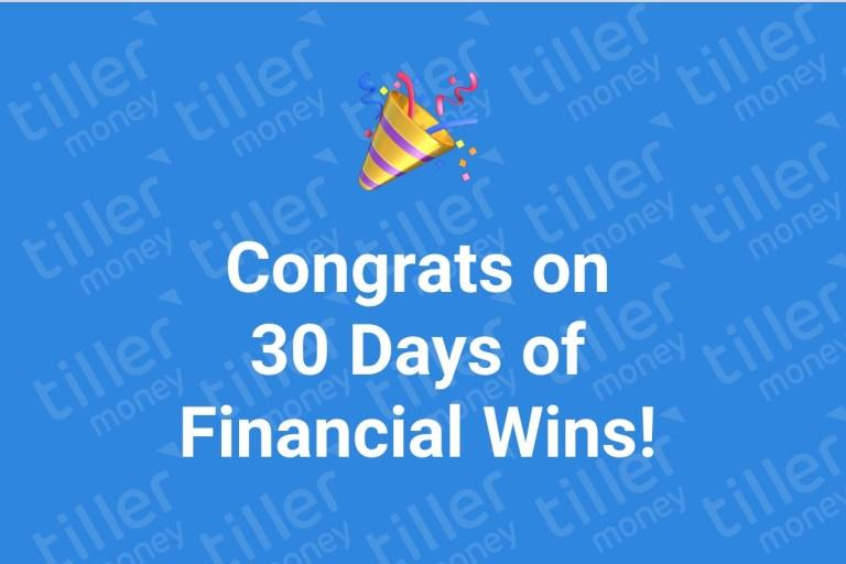 30 days of financial winners