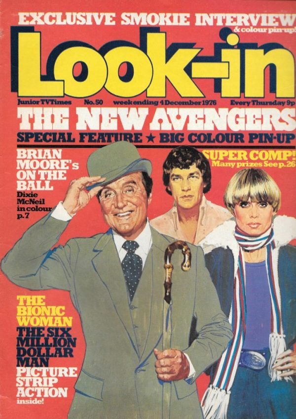 LOOK IN UK MAGAZINE DECEMBER 4TH 1976 THE NEW AVENGERS ...