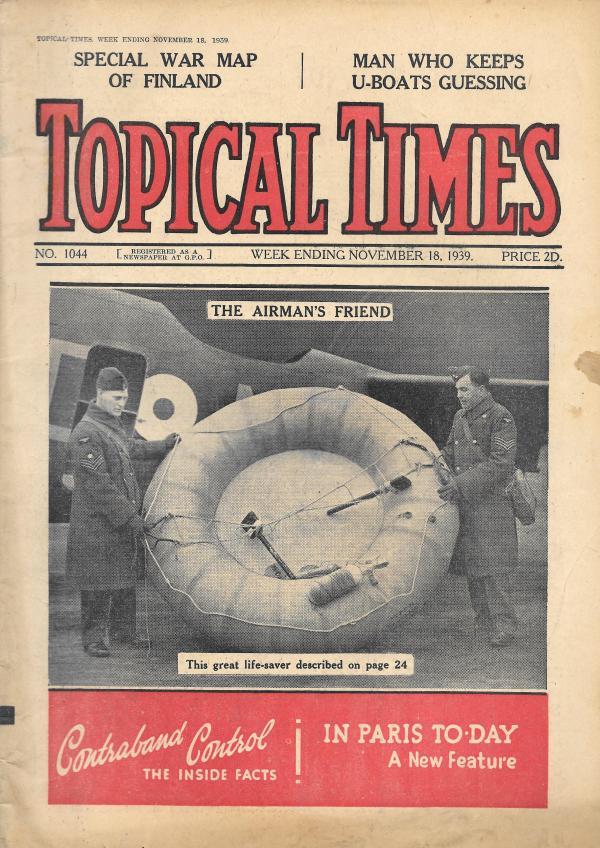 TOPICAL TIMES UK MAGAZINE NOVEMBER 18TH 1939 - Vintage ...