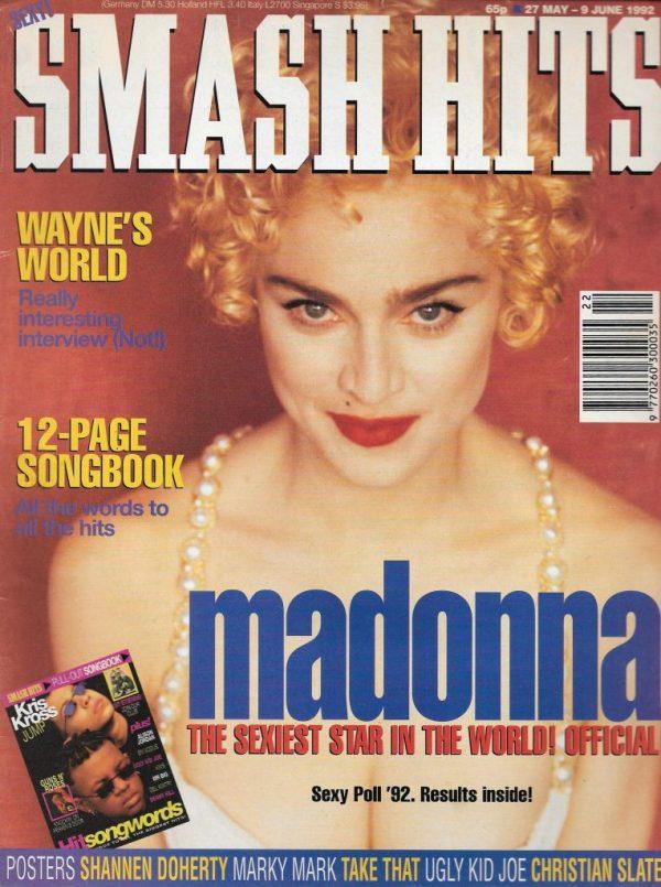 SMASH HITS UK MAGAZINE 27 MAY 1992 MADONNA - Vintage Magazines
