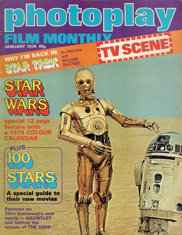 PHOTOPLAY UK MAGAZINE JANUARY 1978 WILLIAM SHATNER Vintage ...