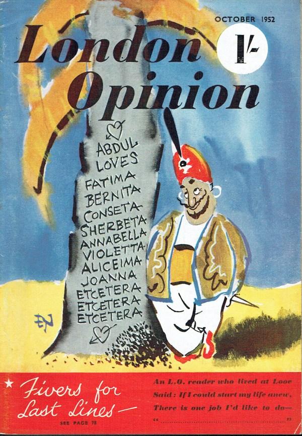 LONDON OPINION UK MAGAZINE OCTOBER 1952 JOAN COLLINS ...