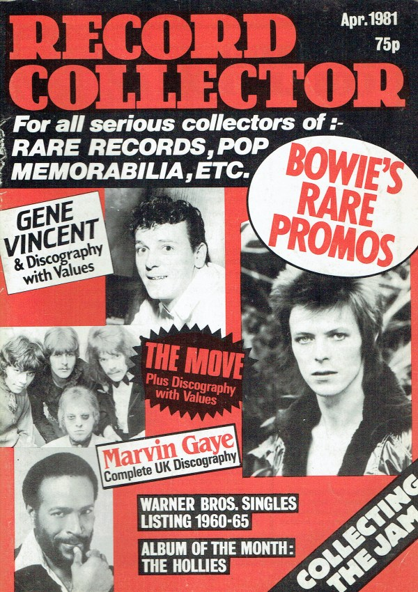 RECORD COLLECTOR UK MAGAZINE APRIL 1981 DAVID BOWIE ...