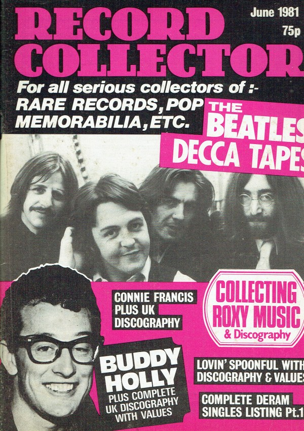RECORD COLLECTOR UK MAGAZINE JUNE 1981 THE BEATLES ...