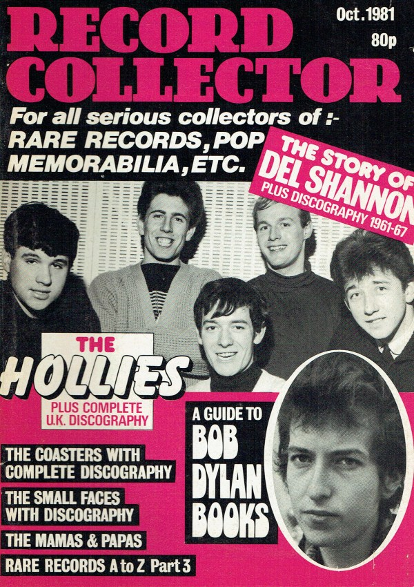 RECORD COLLECTOR UK MAGAZINE OCTOBER 1981 THE HOLLIES ...