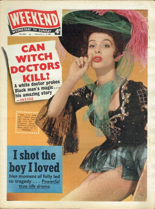 WEEKEND UK MAGAZINE FEBRUARY 4 - 8 1959 CHRISTIANE JANSEN ...