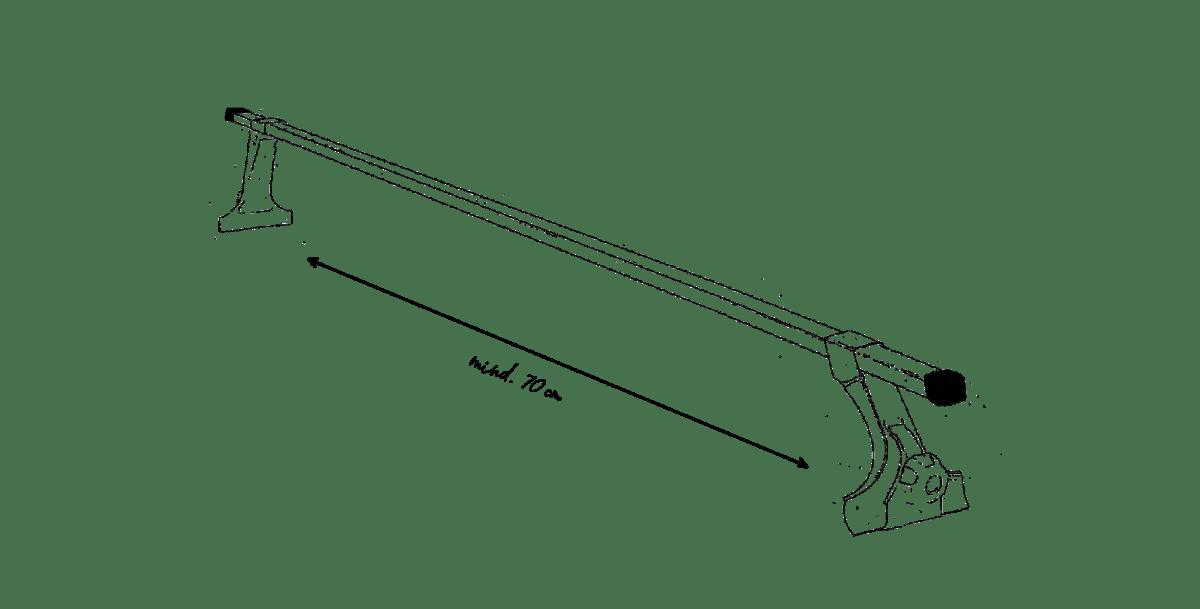 Dachzelt Dachträger Abstand Trägerfüße