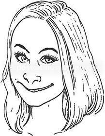 Portraitzeichnung von Linda Petersson