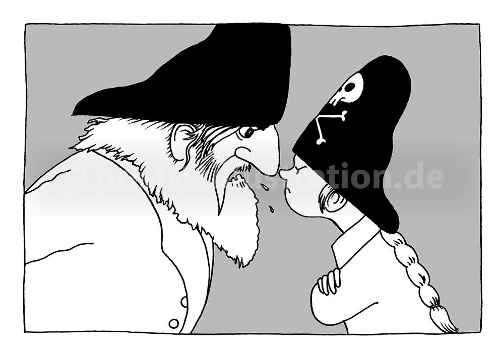 Streit mit Käptn Jerid