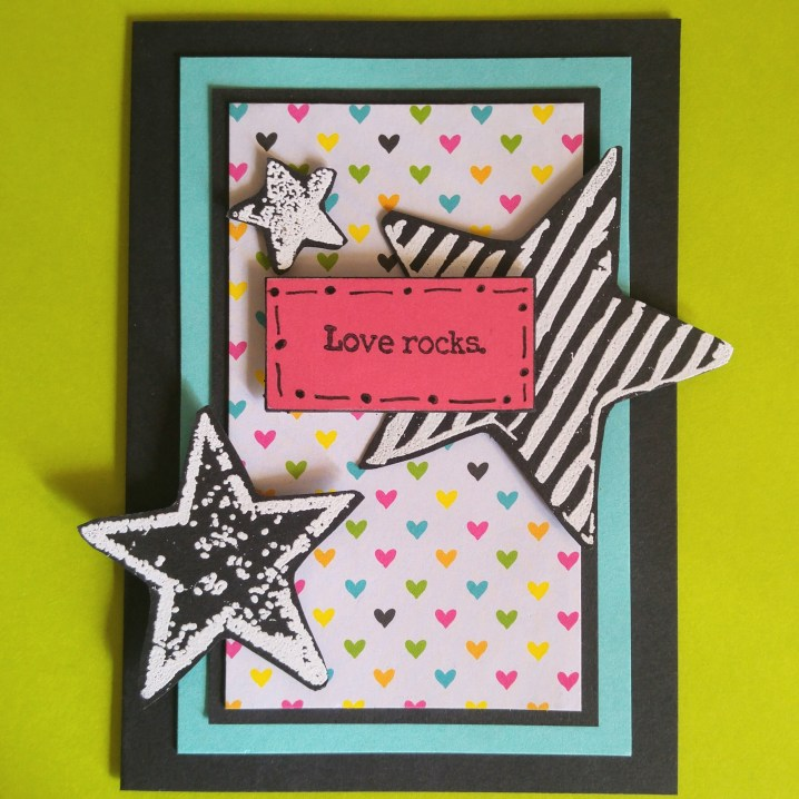 'Love Rocks' handmade card