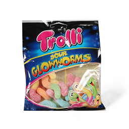TROLLI BOMB.SOUR GLOWWORMS 100g