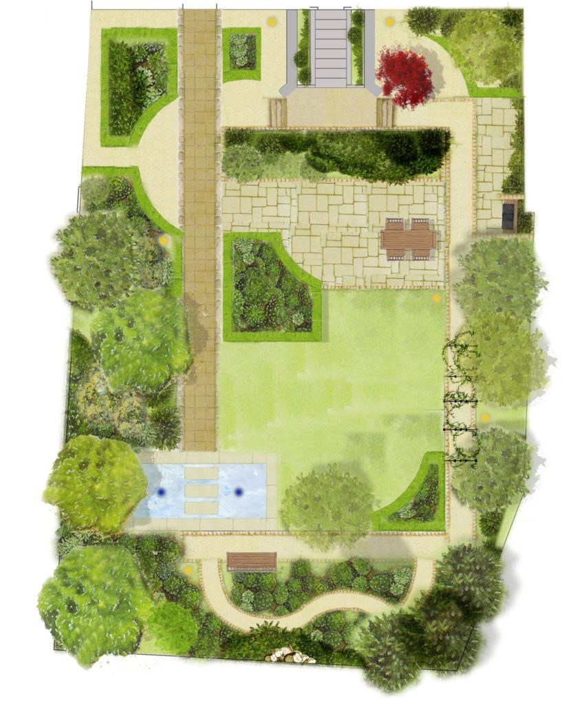 Plan your garden design - Tim Austen Garden Designs on Backyard Layout Planner  id=28943