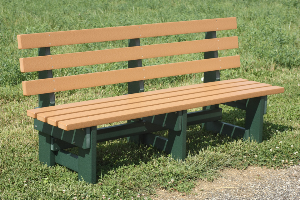 6 Foot Poly Wood Commercial Park Bench
