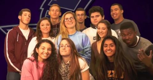 2014 Senior Homecoming court nominees pose for a group photo.