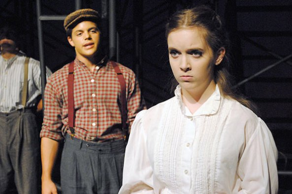 """TCHS Theatre students perform in """"Triangle,"""" Oct. 2014."""