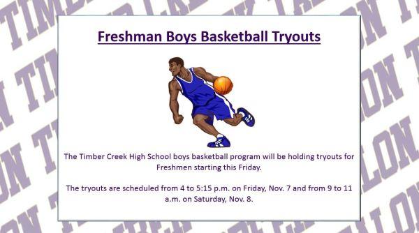 freshman boys basketball tryouts