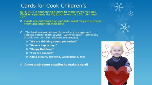 cards for cook children's