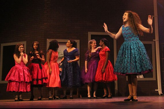 The cast of West Side Story performs on Dec. 8, 2014. (Photo by TCHS Yearbook photographer London Berlin)