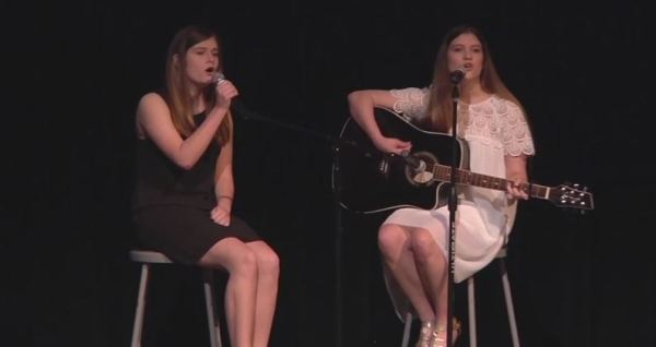 Still from video footage of the 2014 Timber Creek Talent Show.
