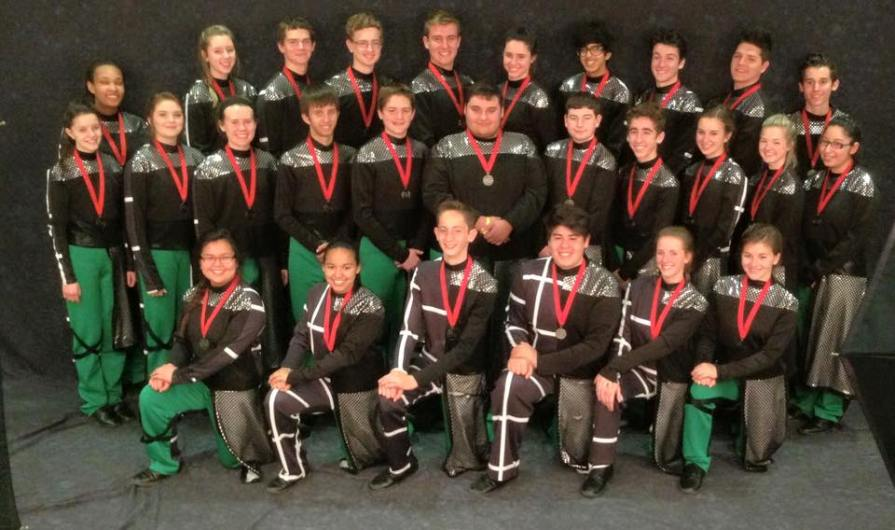 TCHS Drumline Silver Medals from 2015 competitions.