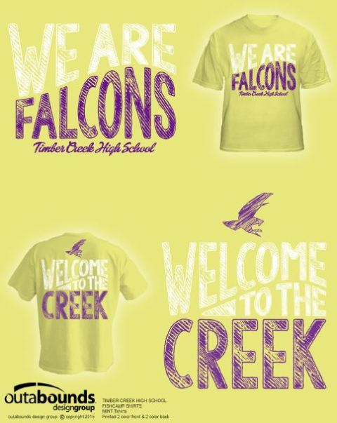 """Welcome to the Creek"" cornsilk yellow t-shirts are for the class of 2019."