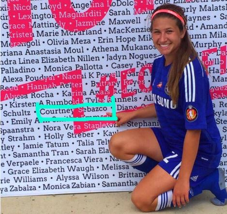 Timber Creek Soccer player Courtney Sebazco committed to play at SMU.