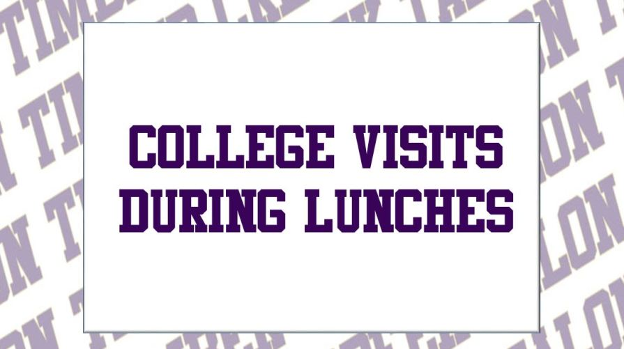 college visits lunches