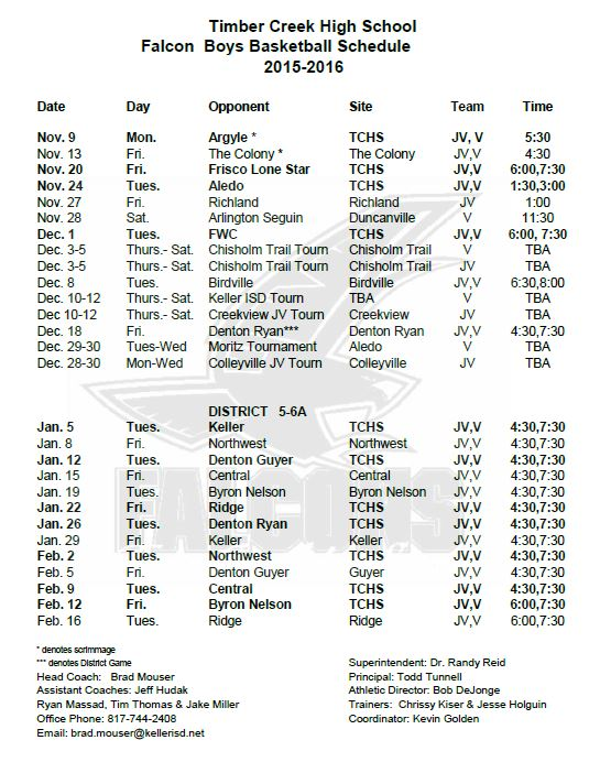 basketball schedule 2015-16